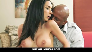 SheWillCheat - Hot Busty Wife Cheats With Massive Black Cock