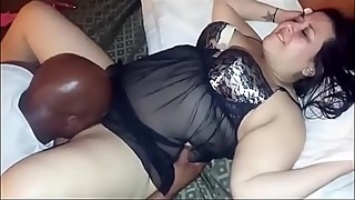 White BBW Enjoying a Big Black Dick