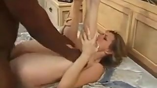 Husband watches wife fucked bu black cock