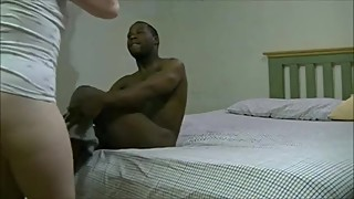 Wife enjoying black dick while hubby records