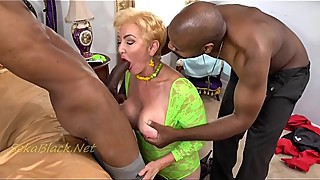 Seka Fucks Two Hung Black Bulls Interracial