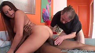 Stan watches wife ride another cock