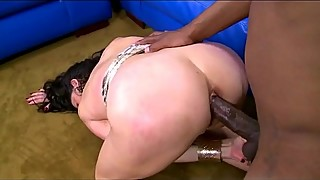 Horny mature gets black dong in her ass