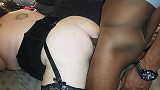 BBW hotwife first time bareback anal with BBC