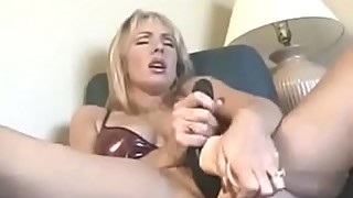 Real spy cam caught wife masturbating to interracial porn