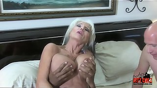 Mean BITCH HOTWIFE fucks BBC in front of her injured CUCK husband Sally D&#039_angelo