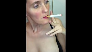 German Amateur Homemade Fucking my Wife Wet Pussy Hard while Smoking