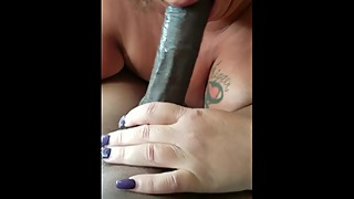Mature wife sucks BBC