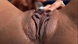 Sexy mature black amateur has great big tits