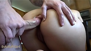 SILENT Anal with parents in the other room! ( quiet!! )
