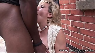 Lady Sonia Trophy Wife Barebacked Outdoors