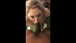 White wife sucking and taking black dick