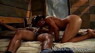 Aunt Vivian enjoys huge black schlong in this XXX parody