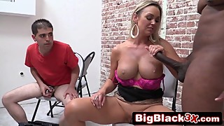 Slutty Wife Takes BBC in Front of her loser cuckold husband