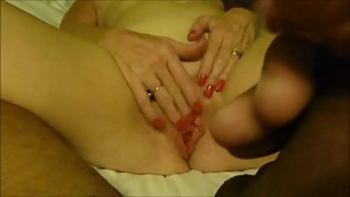 Cheating mature wife getting her pussy ready