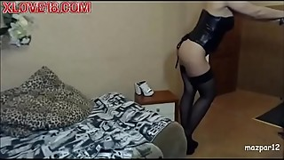 Housewife in black stockings - xlove18 com