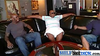 Big Black Cock Fill Wet Horny Mature Lady Pussy clip-16