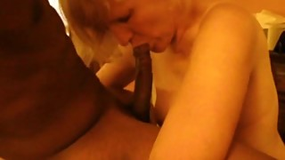 Mature white wife enjoys young black guy's big dick