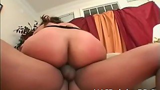 White slut is fond of getting chocolate cocks in her holes