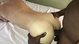 Deep BBC pounding on white wife ass