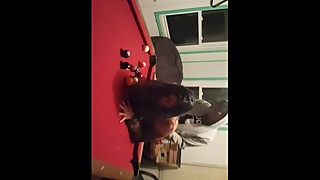 wife taking a bbc on pool table